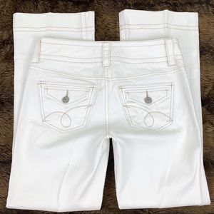 Cabi Contemporary Bootcut White Jeans #343R